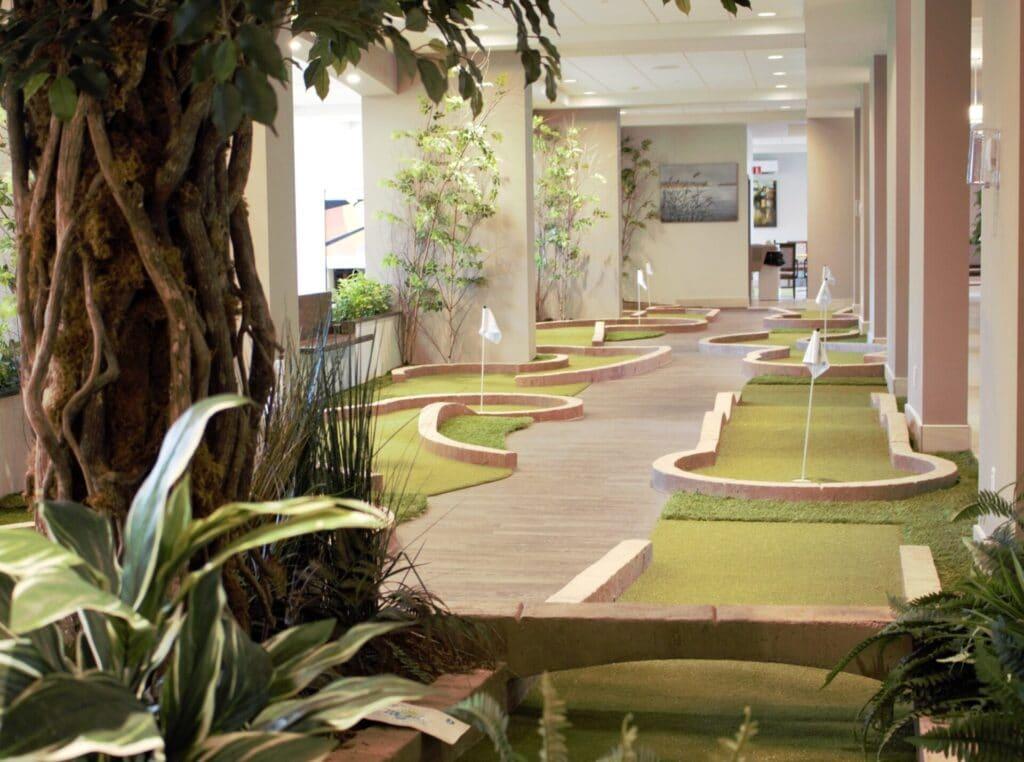 minigol, miniput ou golf disponible gratuitement dans nos résidences pour personnes âgées